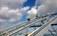 Etfe cushions preparation work in Dunkerque